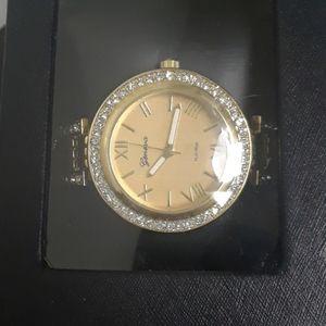 A stainless steel Geneva platinum watch